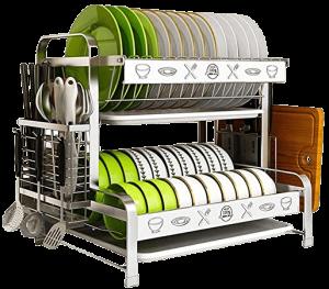 egouttoir vaisselle à 2 niveaux