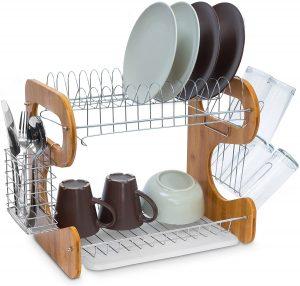 egouttoir vaisselle bois et inox