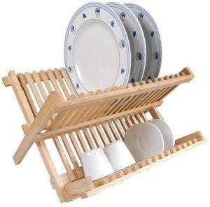 egouttoir vaisselle en bois pliable