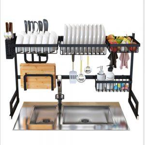 rack vaisselle évier inox design